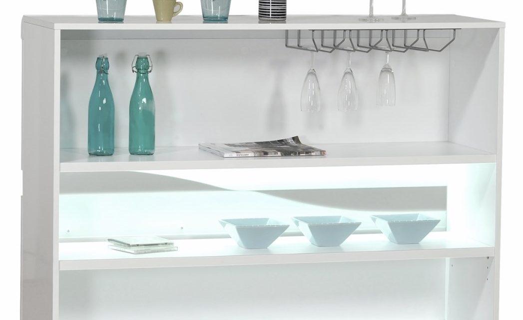 Barkast Ovio 125 cm breed – Hoogglans wit | Ameubelment