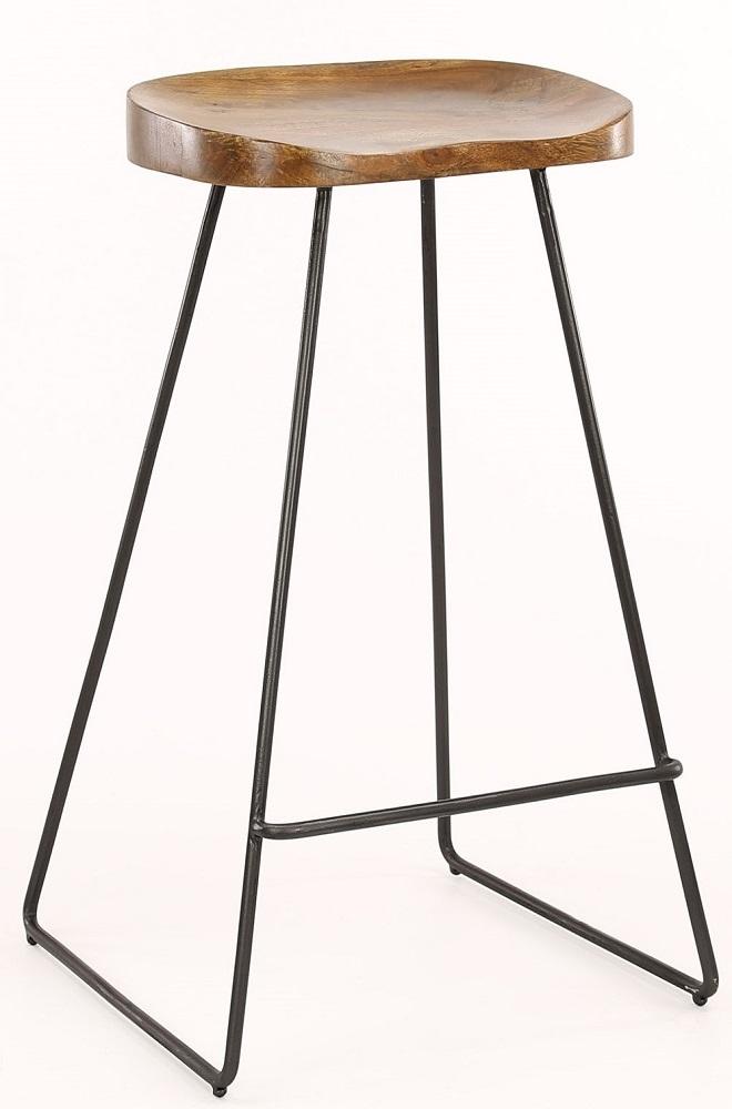 Massief Houten Barkrukken.Barstoel Martin Houten Zitting Per 4x Massief Acacia Naturel Zaloni
