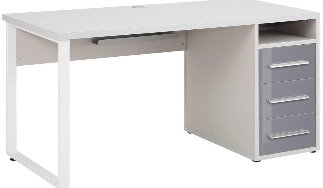 Bureau Banco 150 cm breed – Platina grijs met grijs | Bermeo