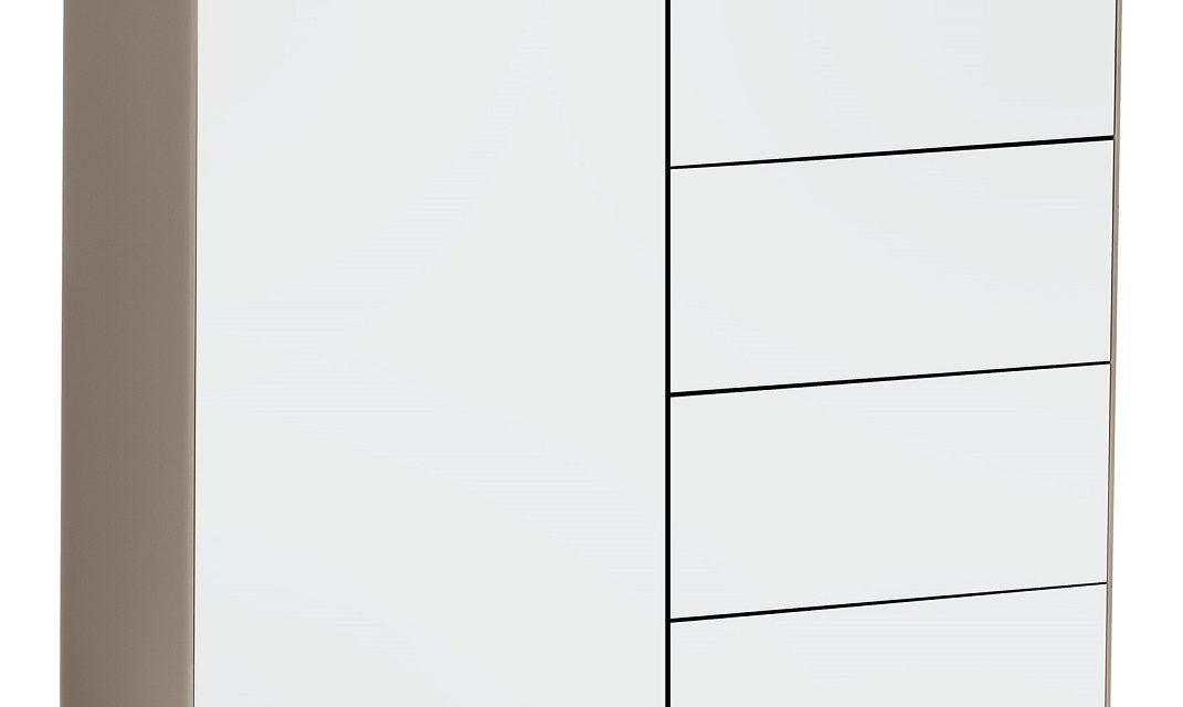 Commode Best 80 cm hoog – Zand met wit | Bermeo