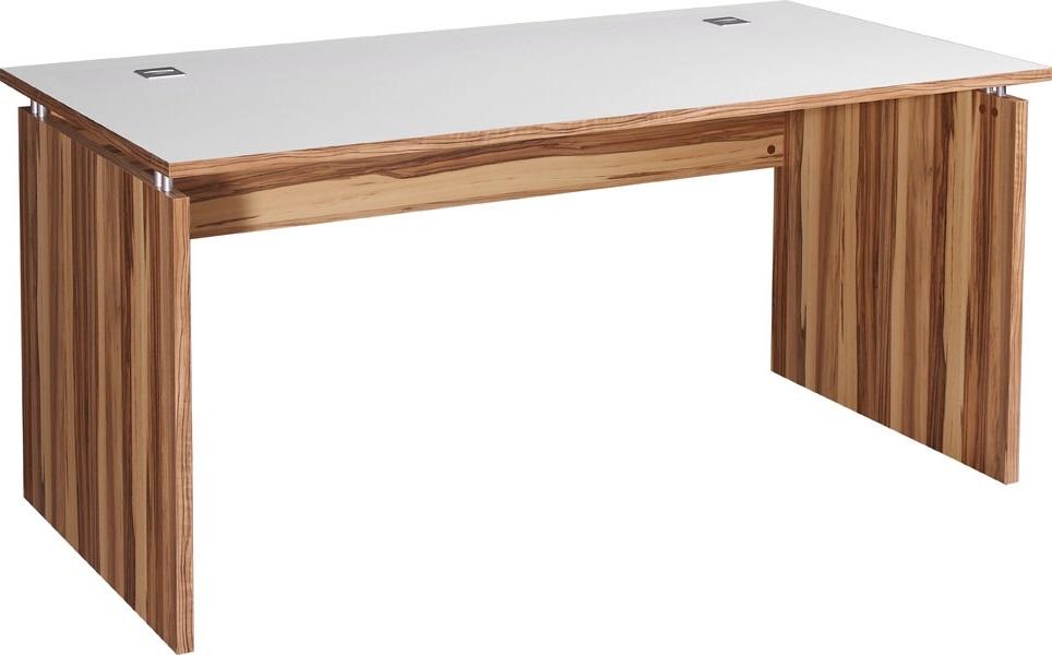 Computer bureau Linea 160 cm breed – Walnoot met Wit | Germania