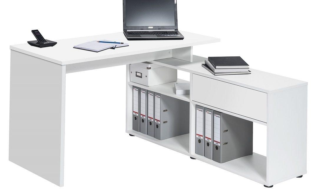 Computer hoekbureau Ronny – wit | Bermeo