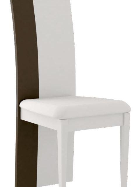 Eetkamerstoel Karat hoogglans Wit met hoogglans antraciet – minimale afname 2 stuks | Ameubelment