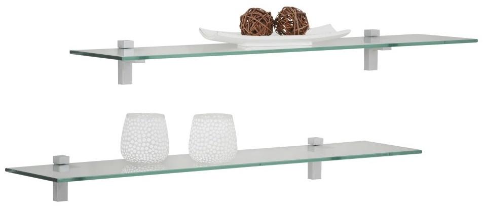 Fristi Boekenplank set 2×90 cm breed – Transparant | Bermeo