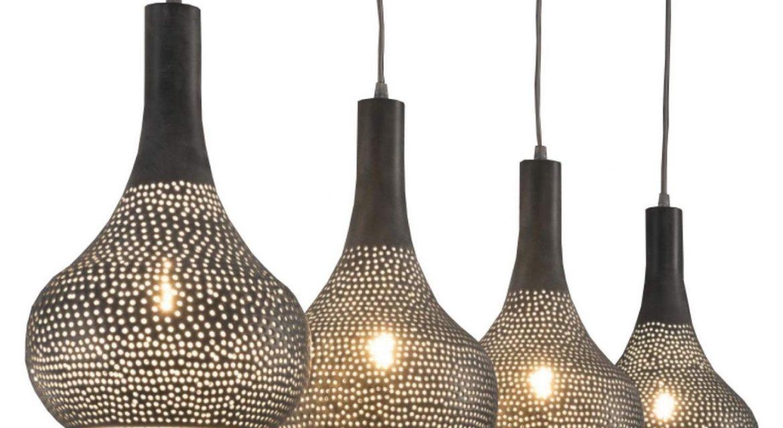Hanglamp Bee 4 lamps – Grijs | Zaloni