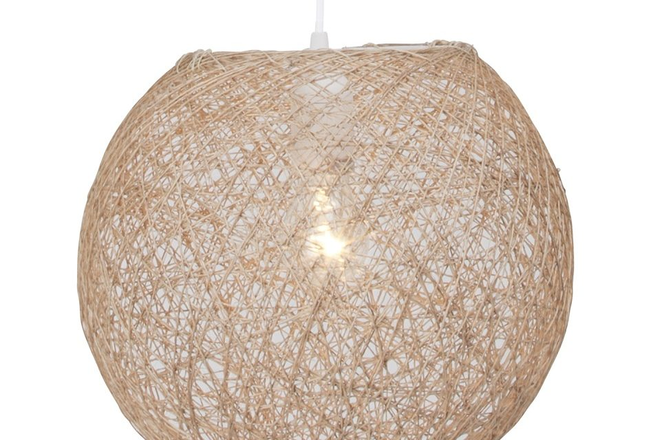 Hanglamp Bumble Wit / Beige | Brilliant