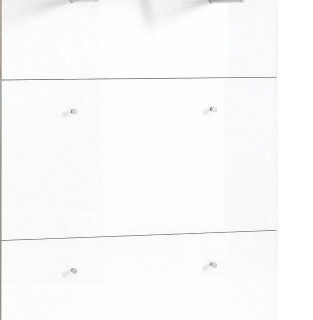 Kapstokpaneel Telde 89 cm breed – Navarra eiken met wit | Alamania