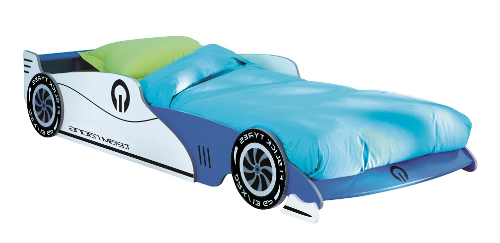 Kinderbed Grand Prix 219 cm breed – Blauw | Young Furniture