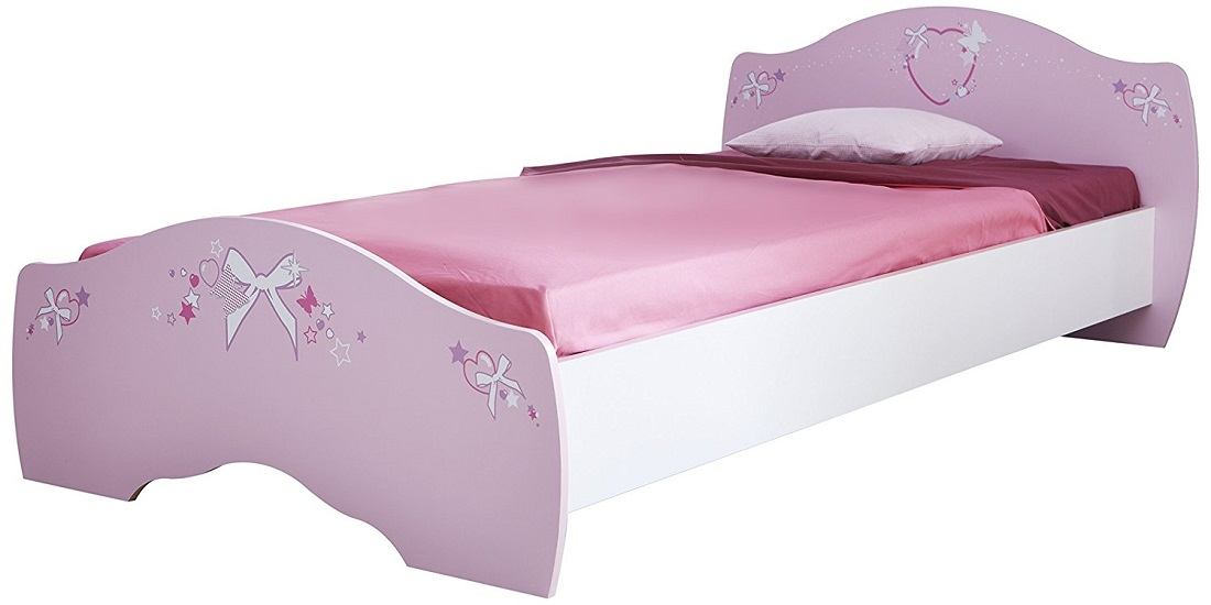 Kinderbed Papillon 203 cm breed – Roze met wit | Young Furniture