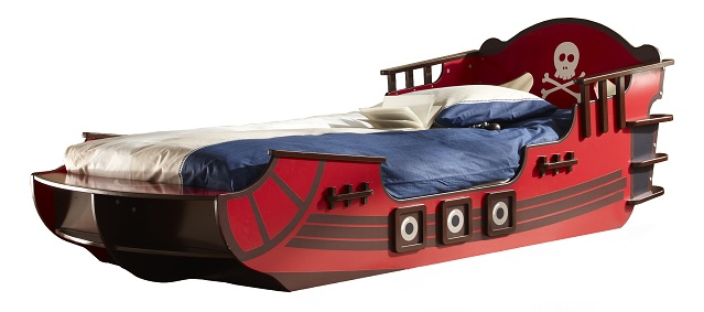 Kinderbed Pirates 236 cm breed – Rood | Young Furniture