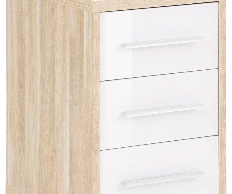 Ladeblok Banco 68 cm hoog – Eiken met wit   Bermeo