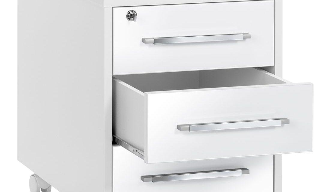 Ladeblok Jones 59 cm hoog – Wit met hoogglans wit | Bermeo
