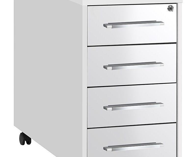 Ladeblok Jones 75 cm hoog – Wit met hoogglans wit | Bermeo
