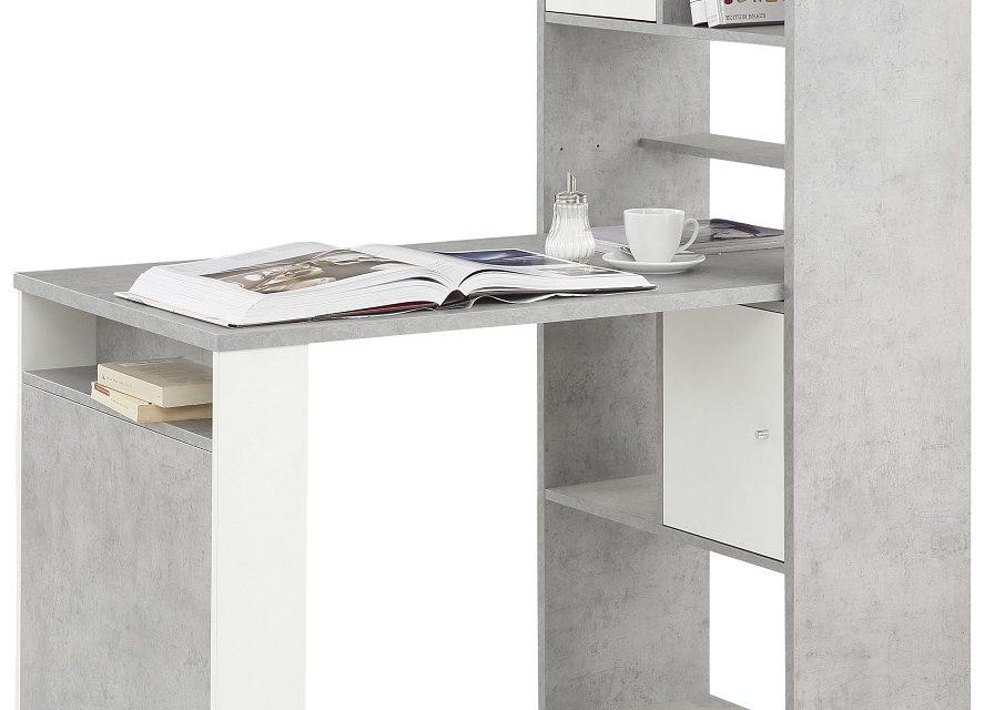 Mini Office bureau Halter – Grijs beton | Bermeo