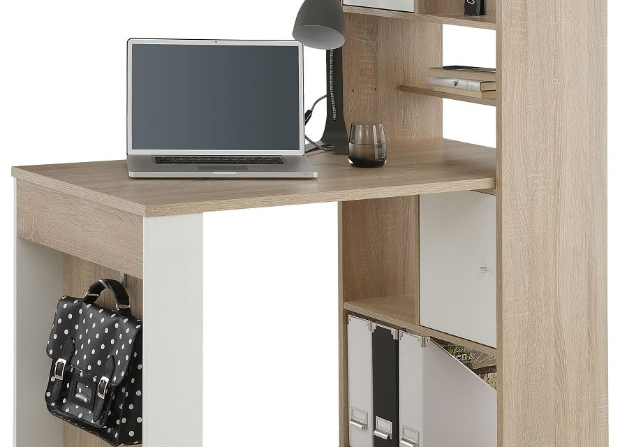 Mini Office bureau Halter – Sonoma eiken | Bermeo