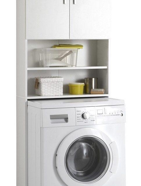 Olbia Wasmachinekast 190 cm hoog – wit | FD Furniture