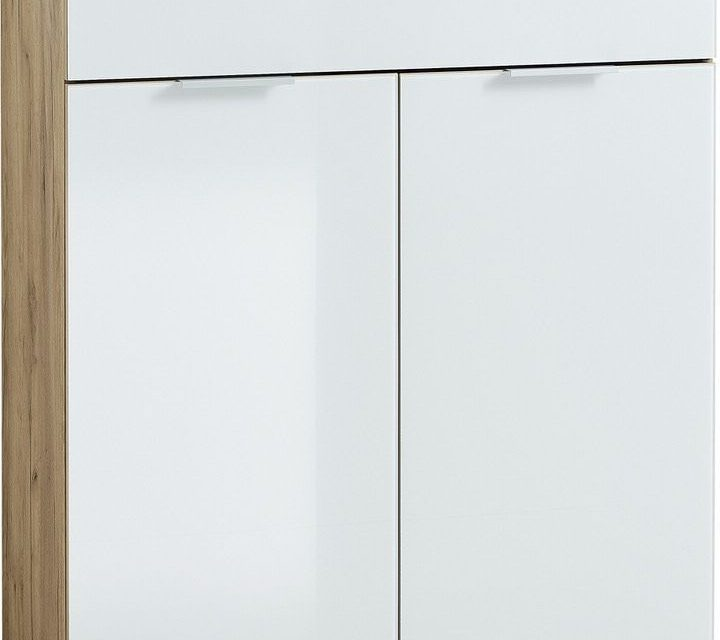Opbergkast Telde 105 cm hoog – Navarra Eiken met wit | Germania