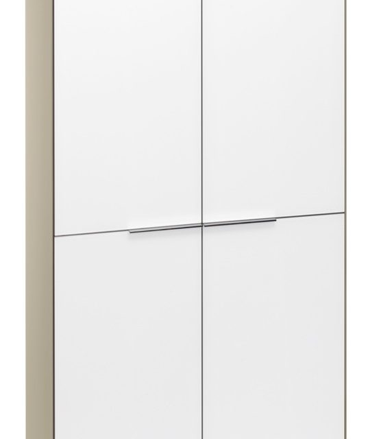 Opbergkast Yas 180 cm hoog – Zand met wit | Bermeo