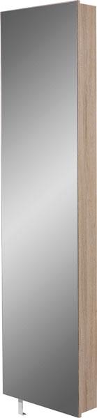Roterend Wandkast Elda – Sonoma Eiken met spiegeldeur | Germania