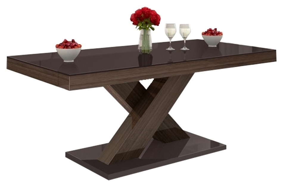 Salontafel Xenon mini 120 cm breed – Hoogglans bruin | Hubertus Meble