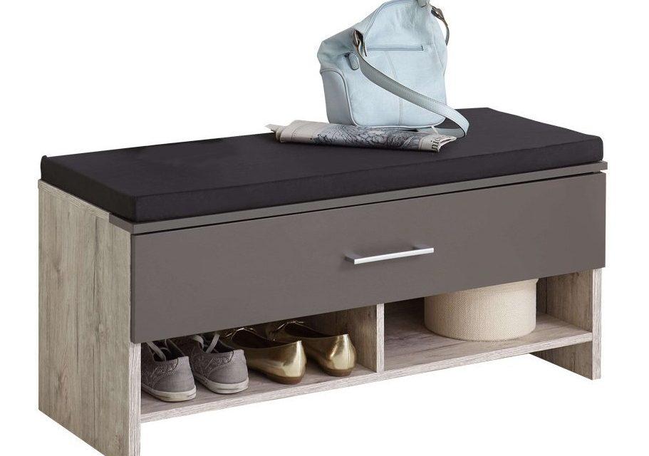 Schoenenbank Jessy – Zand eiken met lava | FD Furniture
