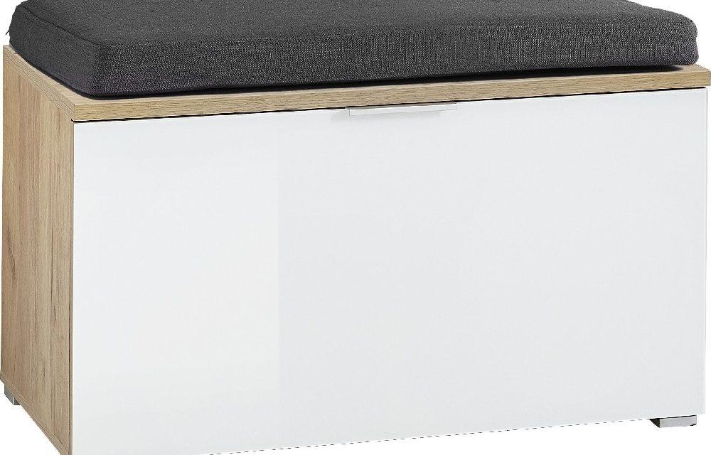 Schoenenbank Telde 49 cm hoog – Navarra eiken met wit | Alamania
