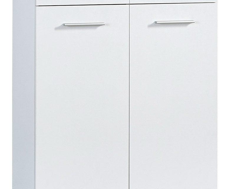 Schoenenkast Apex 110 cm hoog – Wit met eiken   Germania
