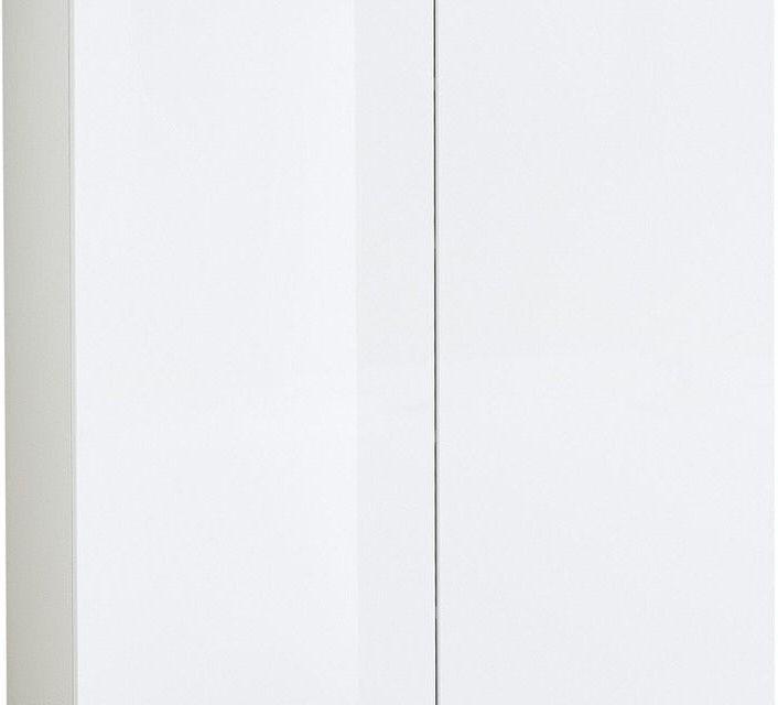 Schoenenkast Cetano 121 cm hoog – Hoogglans wit met navarra Eiken | Alamania