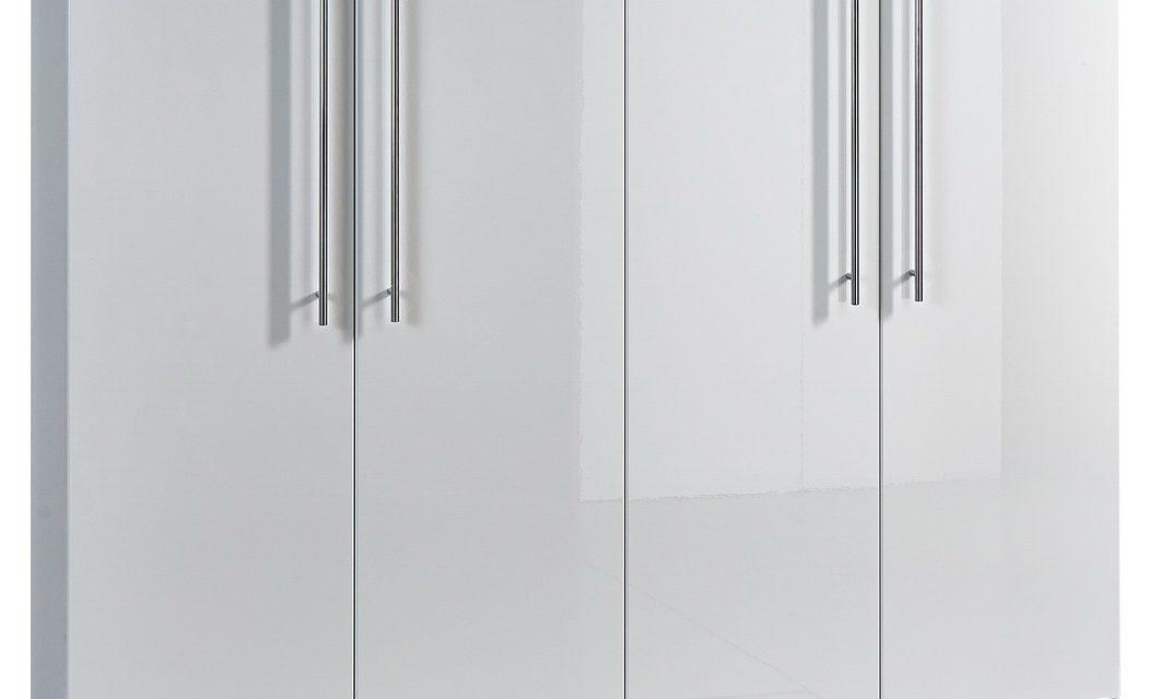 Schoenenkast Indoor 160 cm breed – Hoogglans wit   Germania