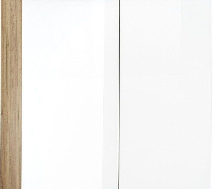 Schoenenkast Telde 104 cm hoog – Navarra Eiken met wit | Alamania