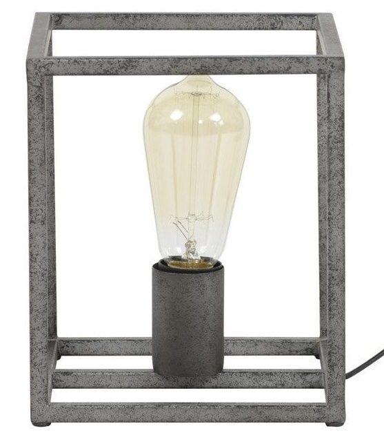 Tafellamp Cubic 21 cm hoog – Oud zilver   Zaloni