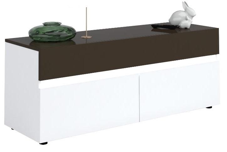 Tv-meubel Karat 150 cm breed – Hoogglans wit met antraciet | Ameubelment