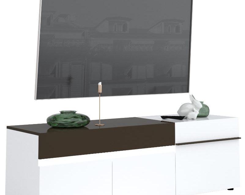 Tv Meubel Karat 180 cm breed – Hoogglans wit met antraciet | Ameubelment