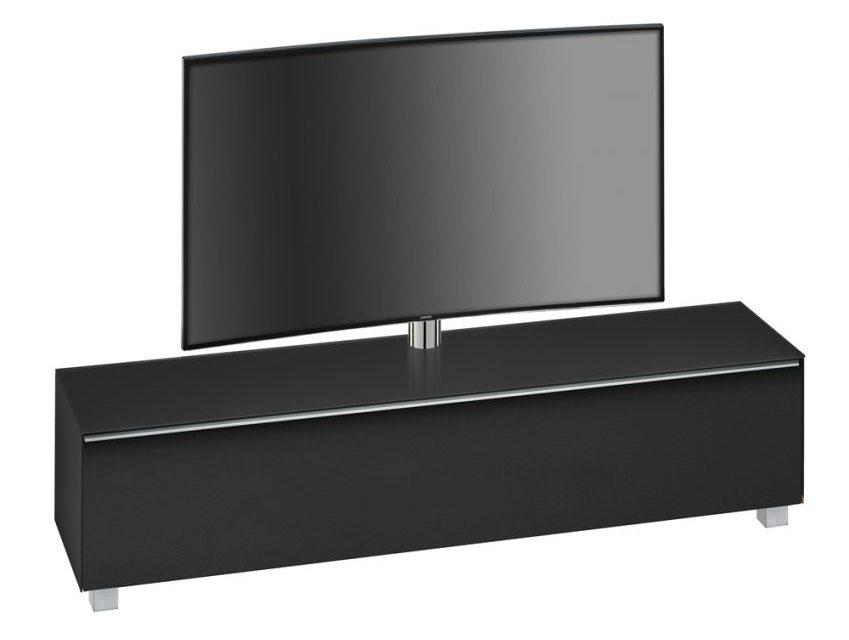 Tv-meubel Stick 180 cm breed – Zwart   Bermeo