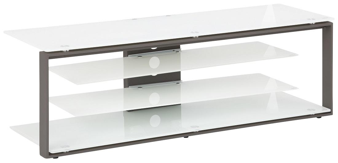 Tv-meubel Best 130 cm breed – Wit met antraciet | Bermeo