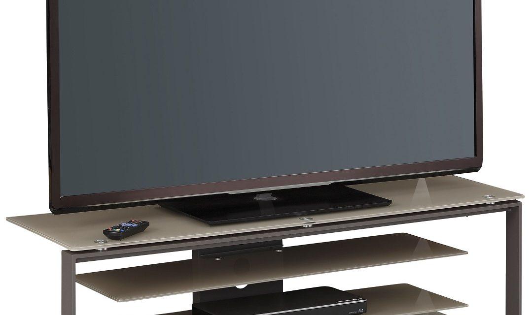 Tv-meubel Best 130 cm breed – Zand met antraciet | Bermeo