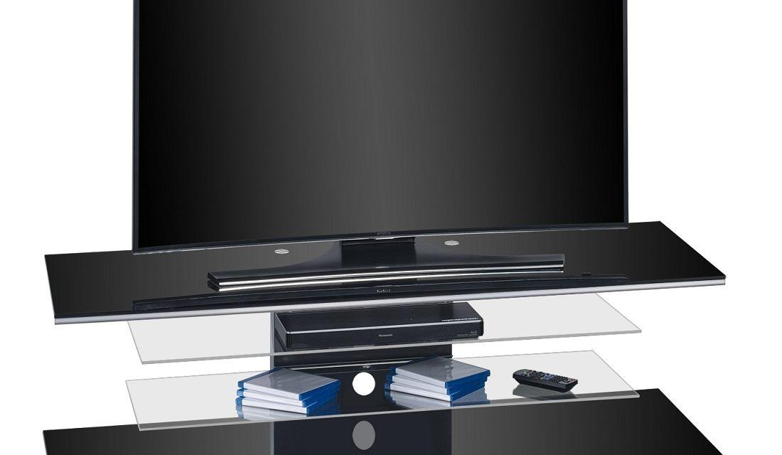 Tv-meubel Diamond 140 cm breed – Zwart | Bermeo