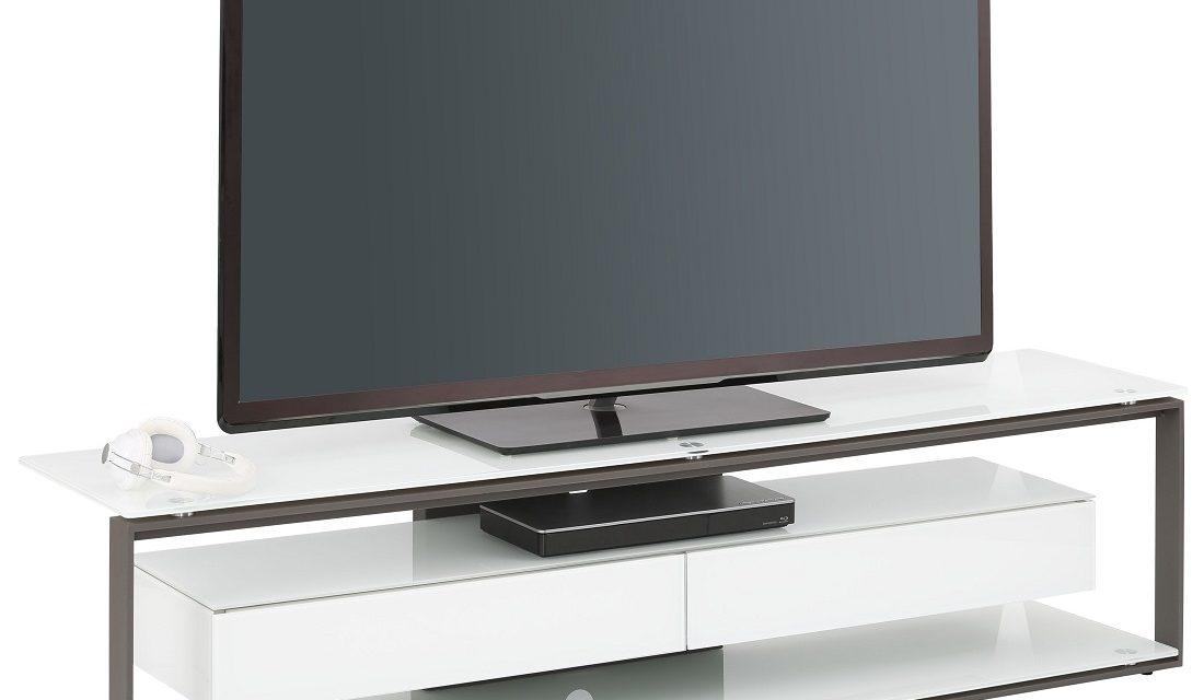 Tv-meubel Yas 170 cm breed – Wit met antraciet | Bermeo