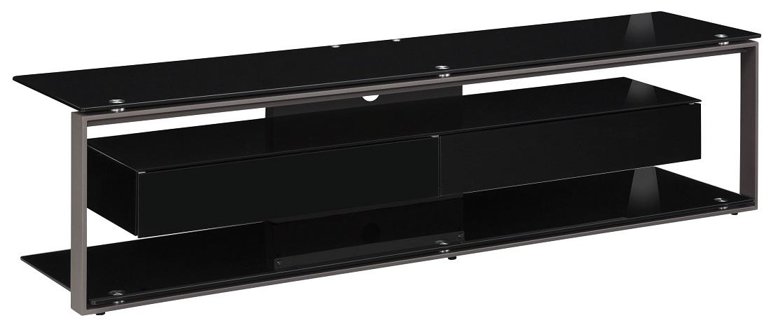 Tv-meubel Yas 170 cm breed – Zwart met antraciet | Bermeo