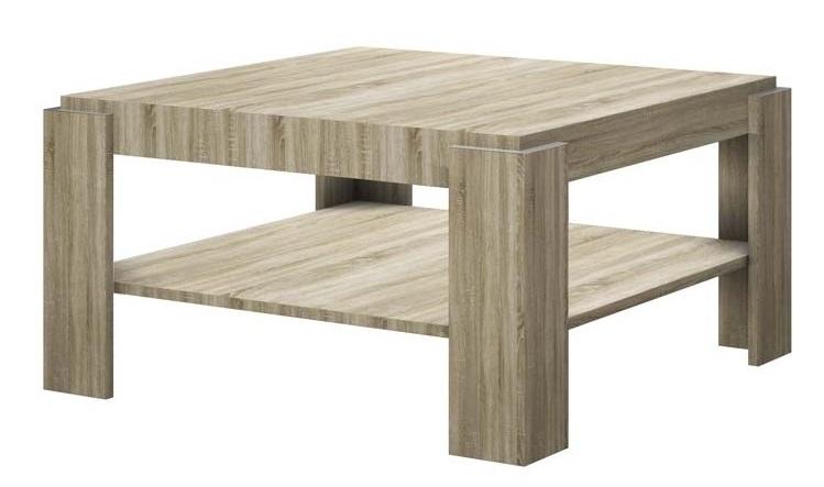 Vierkante salontafel Elba 84 cm breed – Sonoma eiken | Hubertus Meble