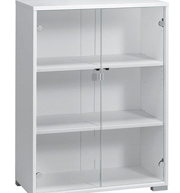 Vitrinekast Jones 110 cm hoog – Wit | Bermeo