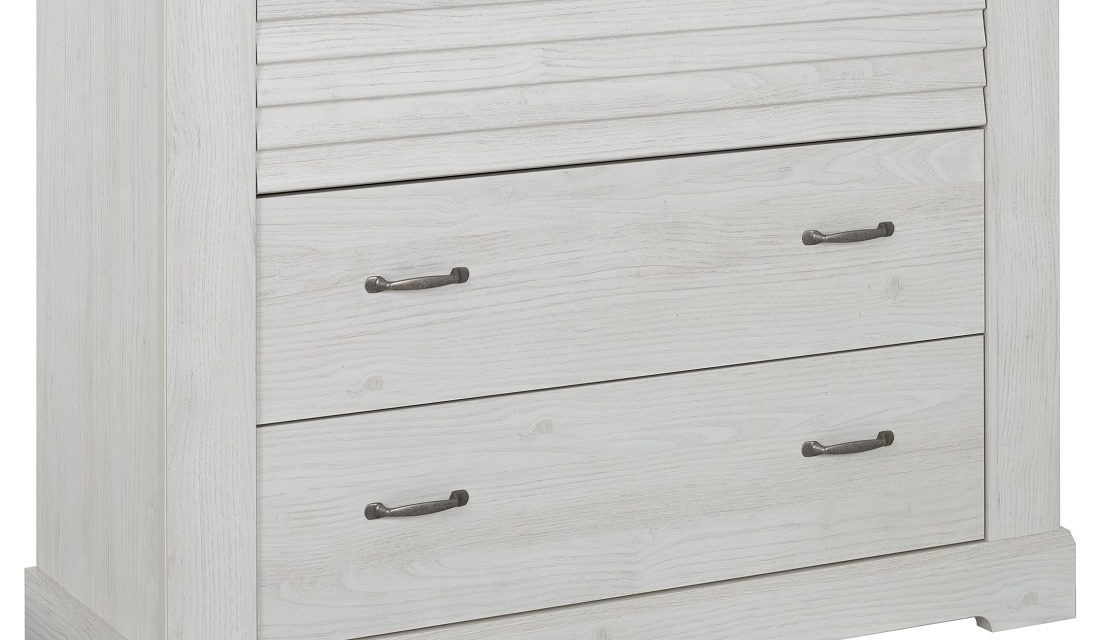 Commode Thelma 91 cm hoog in gekalkte kastanjehout | Gamillo Furniture