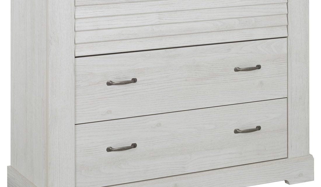 Commode Thelma 91 cm hoog in gekalkte kastanjehout | Gamillo Furniture