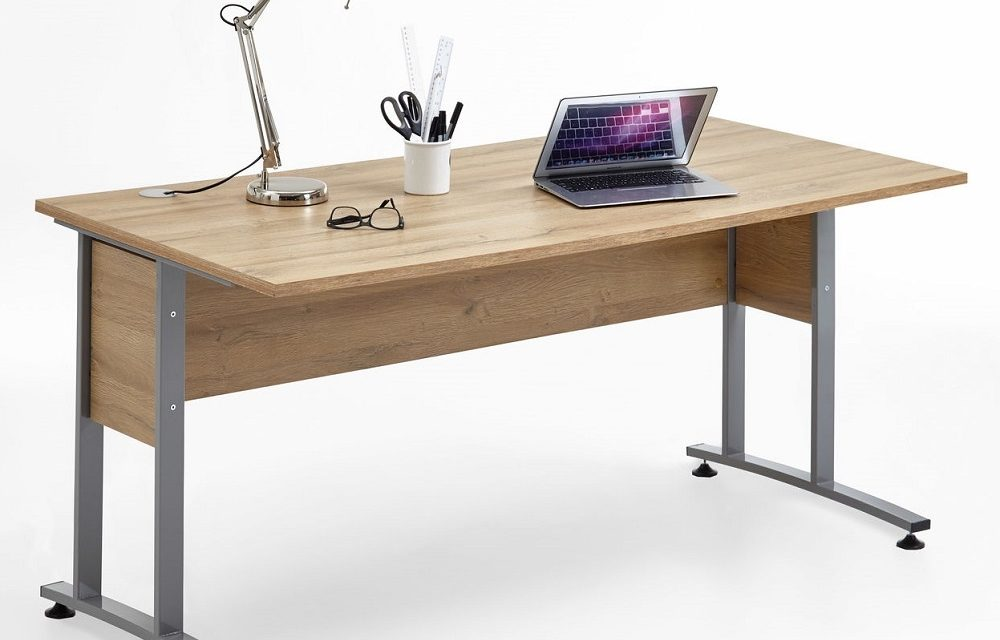 Computer bureau Calvia 160 cm breed – oud eiken | FD Furniture