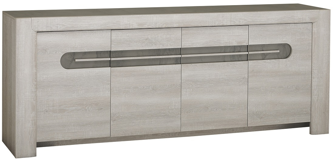 Dressoir Sandro 220 cm breed in licht grijs licht grijs | Gamillo Furniture
