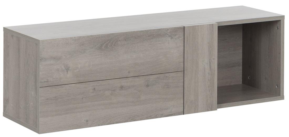 Hangkast Boston 107 cm breed in licht grijs eiken | Gamillo Furniture