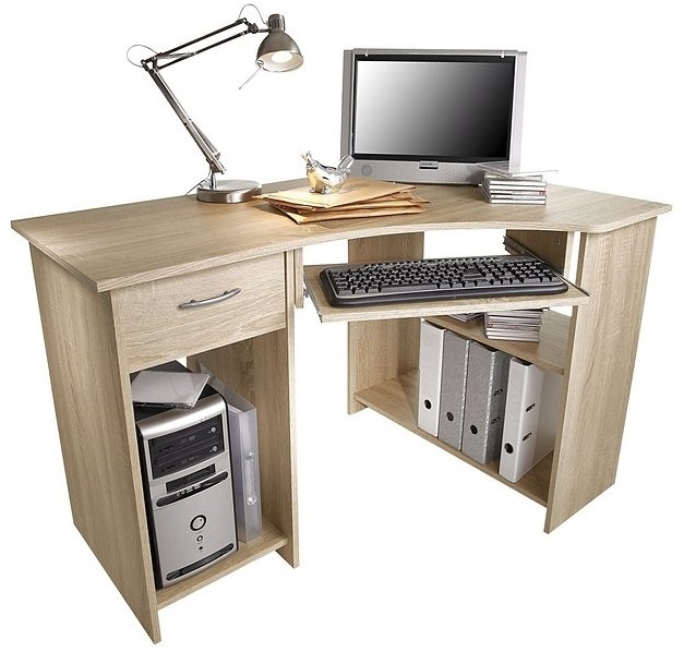 Hoekbureau Felix 118 breed in eiken | FD Furniture