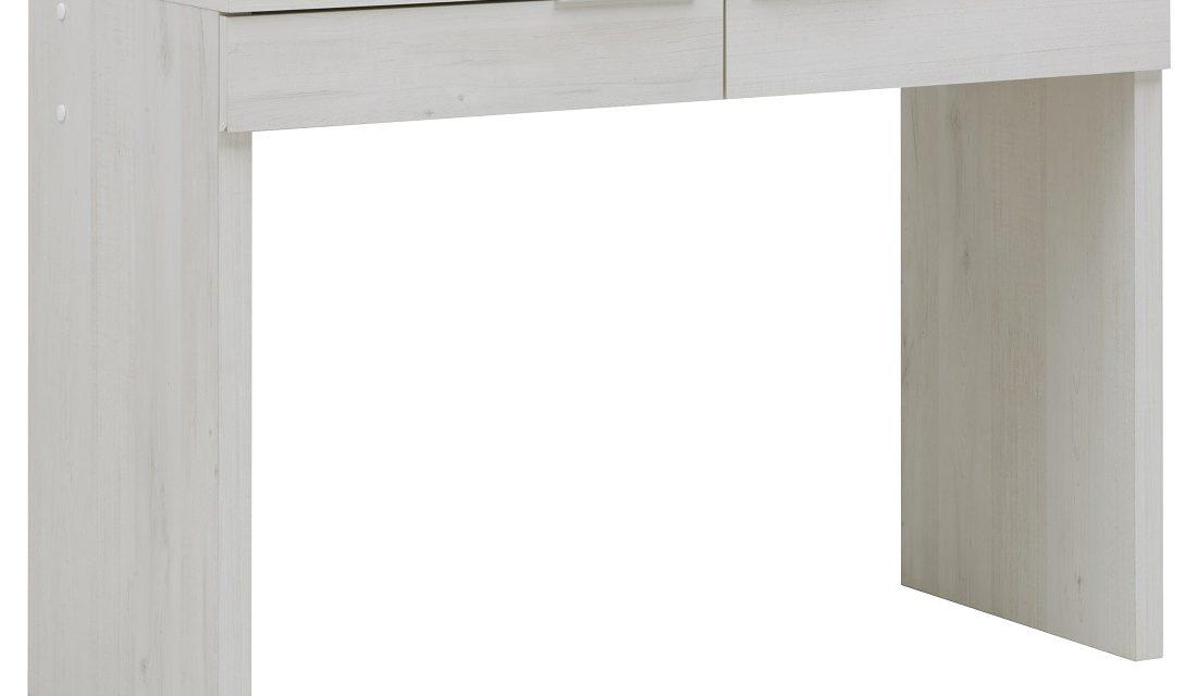 Kaptafel Brooklyn 110 cm breed in gekalkte kersenhout | Bordini Furniture