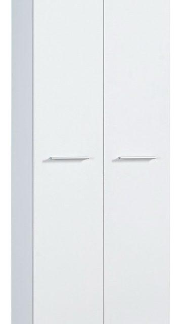 Kledingkast Apex 200 cm hoog – Wit met eiken   Alamania
