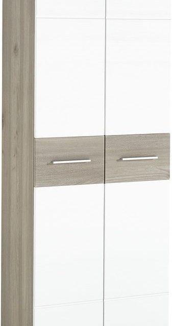 Kledingkast Malou 198 cm hoog – Wit met eiken | Alamania